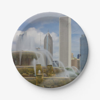 At Buckingham Fountain 7 Inch Paper Plate