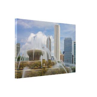 At Buckingham Fountain Canvas Print