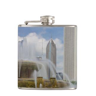 At Buckingham Fountain Hip Flask