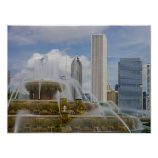At Buckingham Fountain Poster