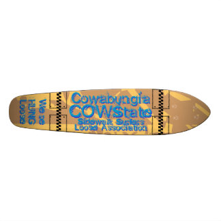 At Cowabungia State or COW State We Are HUNG Loose 20.6 Cm Skateboard Deck
