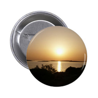 At Day's End Greek Sunset Button