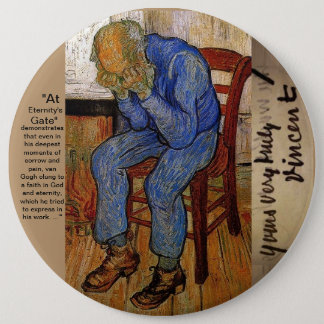 At Eternity's Gate by Van Gogh 6 Cm Round Badge