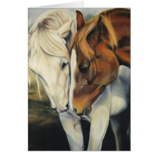"""""""At First Sight"""" equine card"""