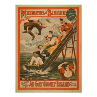 """At gay Coney Island"" Musical Comedy Poster #2"