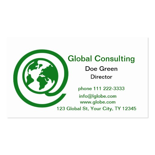 At Globe Consulting Business Card Templates