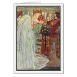 At Home by Florence Harrison Greeting Card