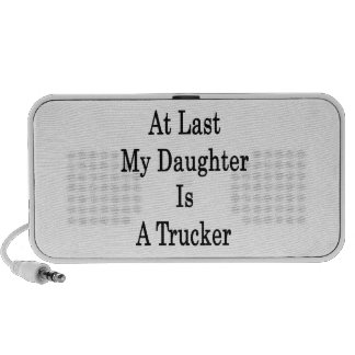 At Last My Daughter Is A Trucker Notebook Speakers