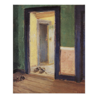 At lunchtime by Anna Ancher Poster