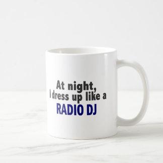 At Night I Dress Up Like A Radio DJ Basic White Mug