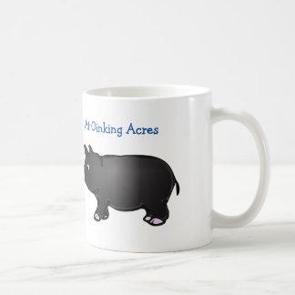 At Oinking Acres, Black Mini Pig Mug