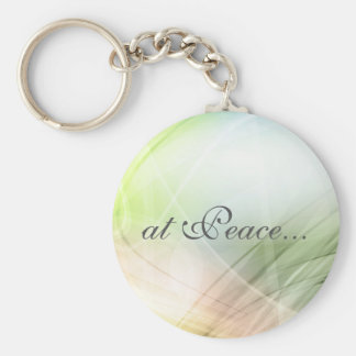 At Peace Beautiful Green and Pink Keychain