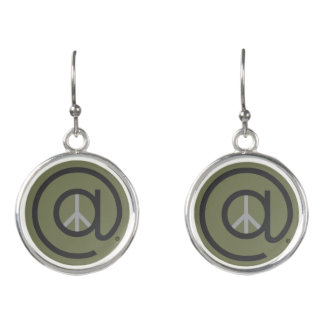 At Peace drop earrings