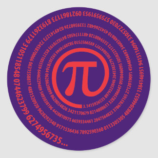 At Pi Sign, Spiral Version Sticker