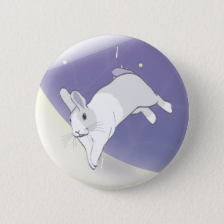 AT PLAY IN THE COSMOS 6 CM ROUND BADGE