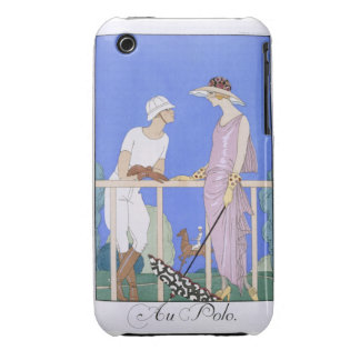 At Polo, 1920-29 (pochoir print) iPhone 3 Case-Mate Cases