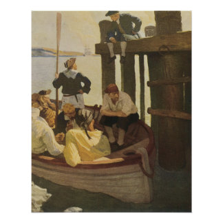 At Queen's Ferry by NC Wyeth, Vintage Pirates Poster