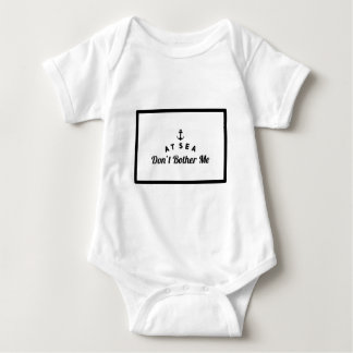 At sea don't bother me baby bodysuit