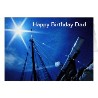 AT SEA-HAPPY BIRTHDAY DAD GREETING CARD