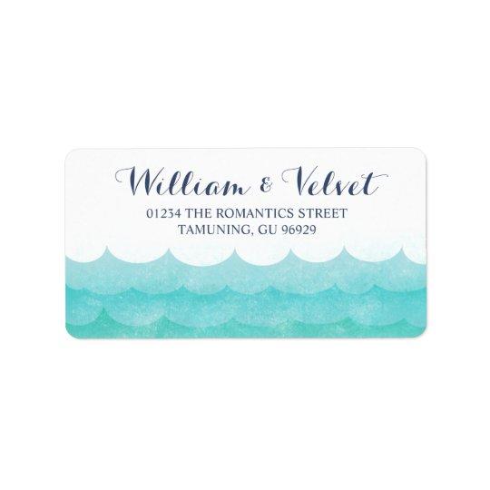 At Sea Nautical Wedding Labels