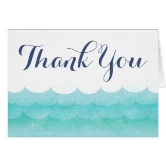 At Sea Nautical Wedding Thank You Cards