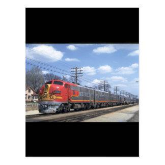 AT&SF EMD F-7 #342_Trains Postcard