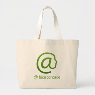 At Sign Face Concept Large Tote Bag