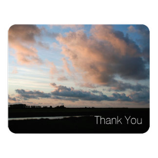 At Sunset - Peaceful Sky -2- Sympathy Thank You 11 Cm X 14 Cm Invitation Card