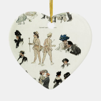 At the Bal Tabarin Ceramic Heart Decoration