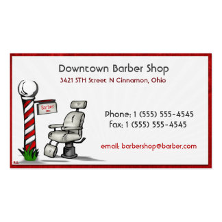 At The Barber Shop Double-Sided Standard Business Cards (Pack Of 100)