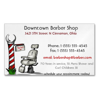 At The Barber Shop Magnetic Business Cards (Pack Of 25)
