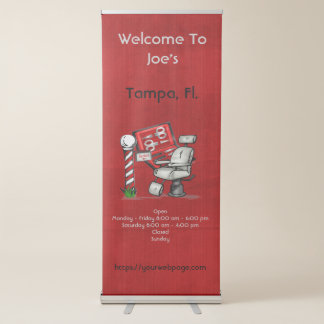 At The Barber Shop Retractable Banner