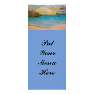 """At The Beach"" Rackcards Rack Card Template"