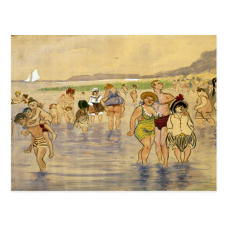 At The Beach - Zille Postcard