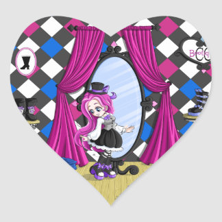 At the Bootique Heart Stickers