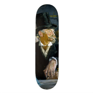 At the Cafe by Edouard Manet Skateboard Deck