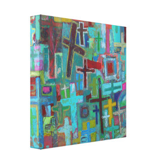 At the Cross 12 x 12 Wrapped Canvas
