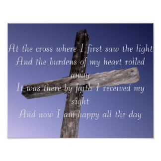 At the Cross Lyric Poster