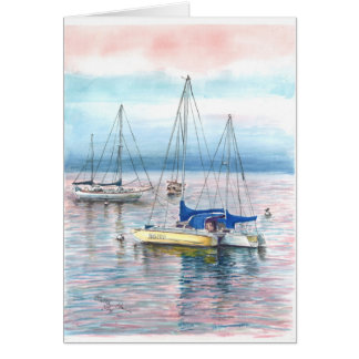 At the dock of Monterey Harbor Card