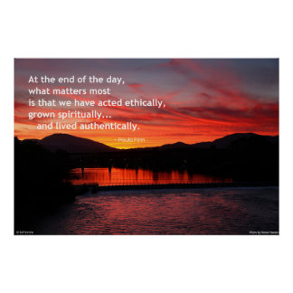 At the end of the day... poster