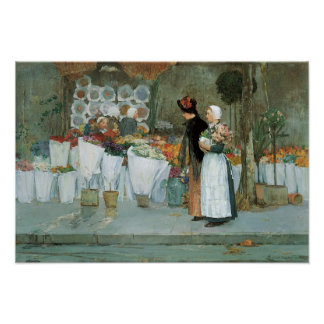 At The Florist by Childe Hassam, Vintage Fine Art Poster