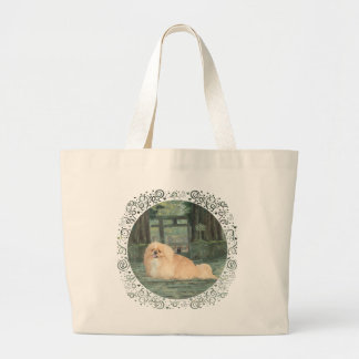 At the Gate Large Tote Bag