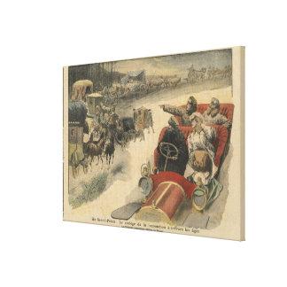 At the Grand Palais history of locomotion Canvas Print