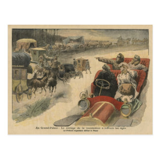 At the Grand Palais history of locomotion Postcard