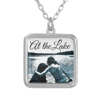 At the Lake. Silver Plated Necklace