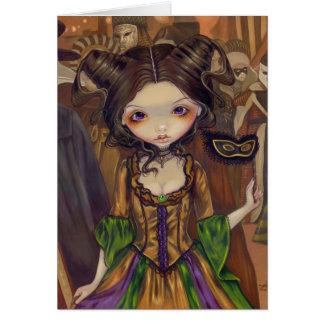 """""""At the Masquerade Ball"""" Greeting Card"""
