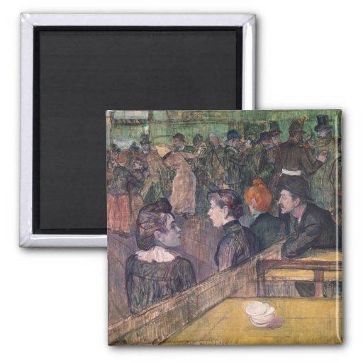 At the Moulin de la Galette, 1899 Magnet