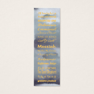at the name of Jesus... Bookmark Mini Business Card