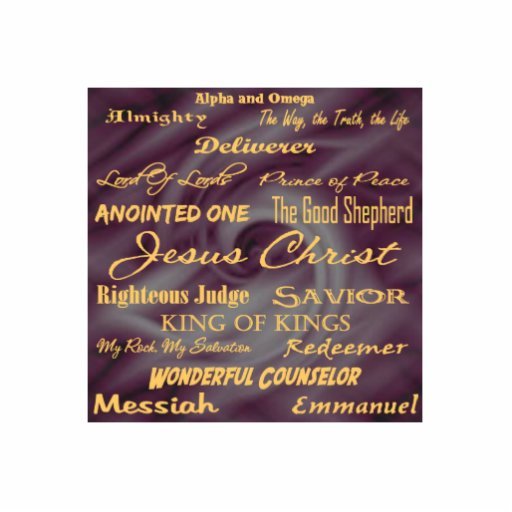 at the name of Jesus... Ornament Photo Cut Out