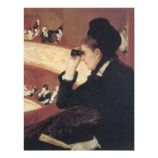 At the Opera by Mary Cassatt Vintage Impressionism Custom Announcements